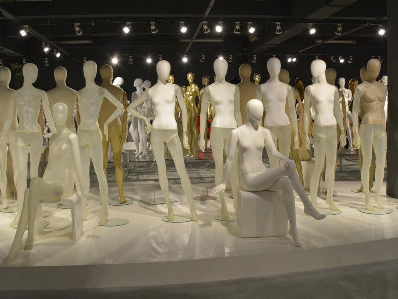 Fabric transparent fiberglass mannequin female