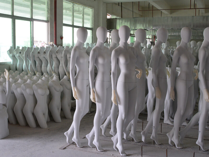Drying mannequin are waitting for QC