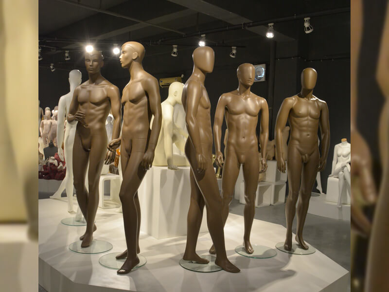 Brown color muscle male mannequin