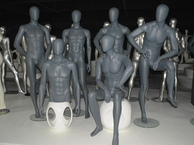 Matte grey male mannequin(KENT)