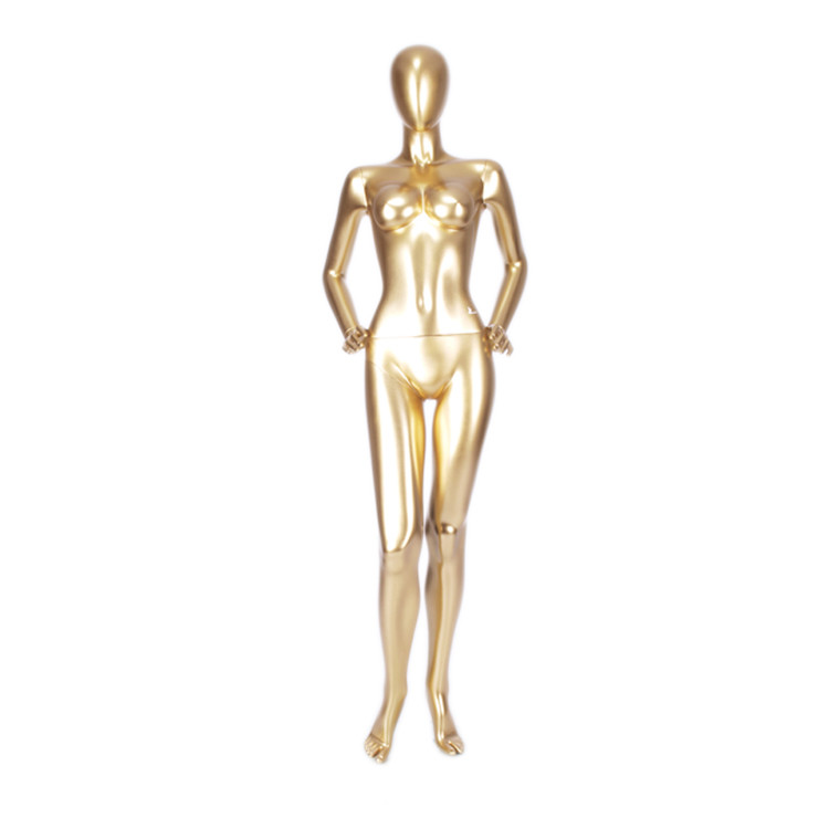 MNF-7 Fashion female gold mannequin for lingerie display