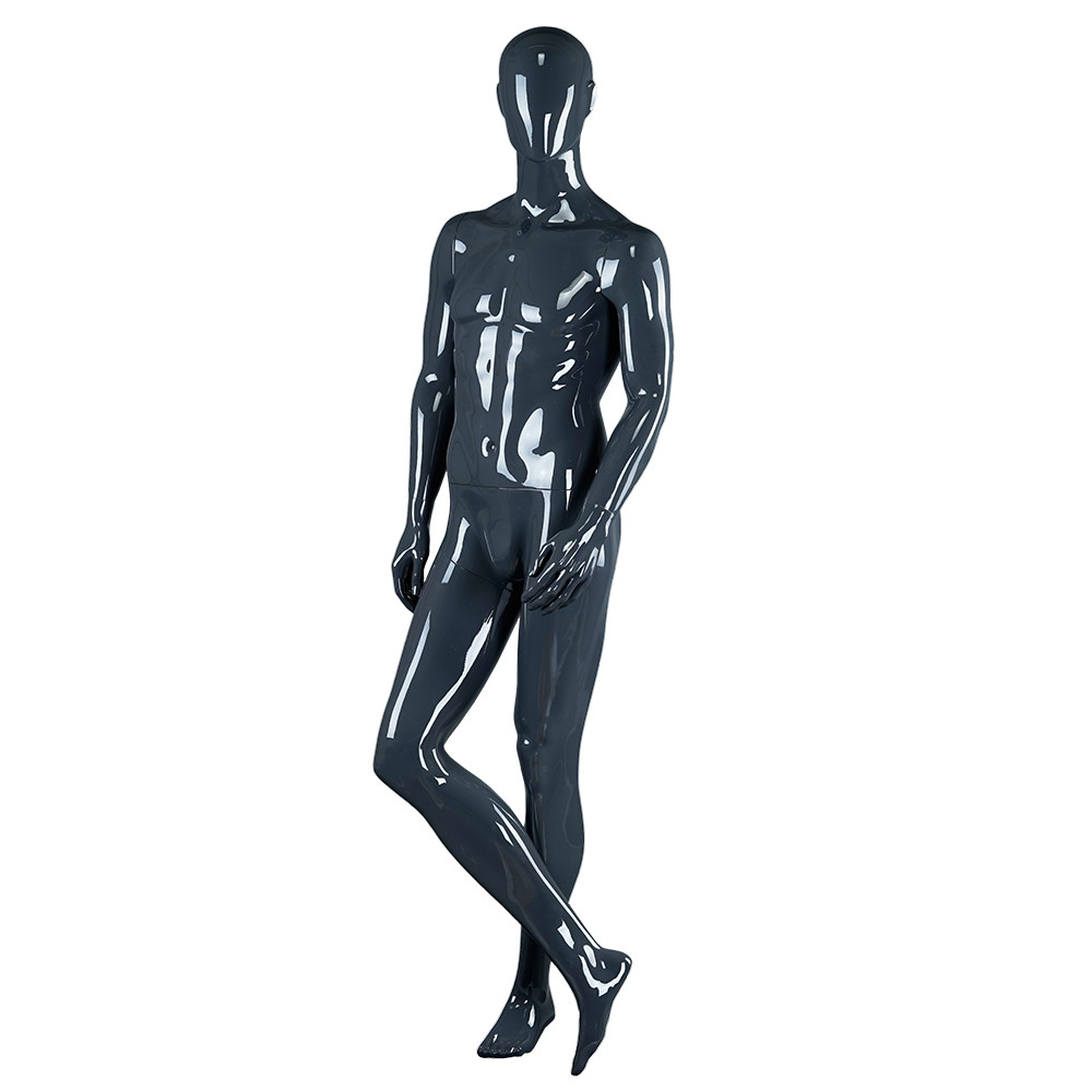 RNM-3 High glossy black and gray male standing mannequin for window display