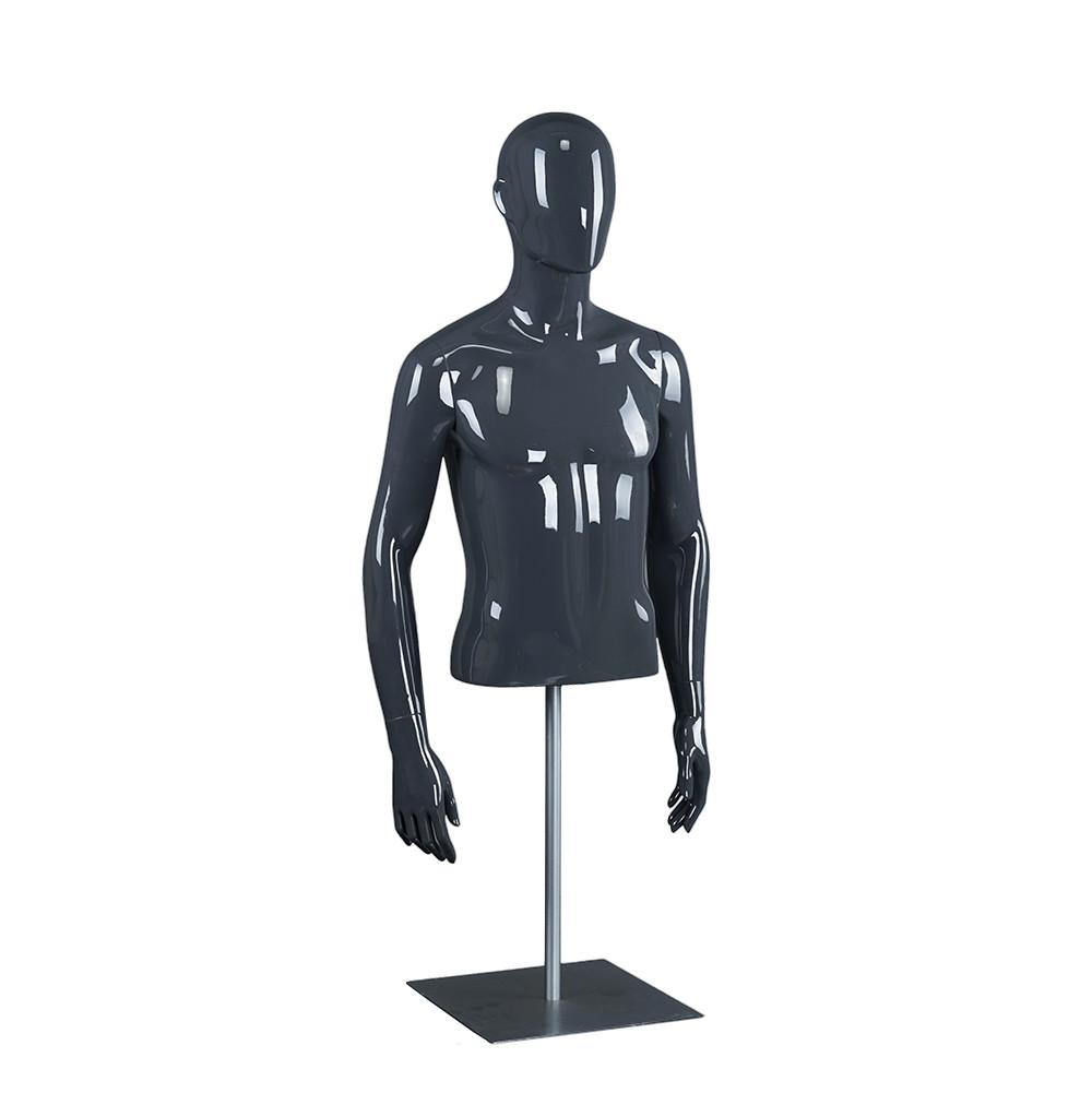 RM-E Upper body mannequin male half body torso with stand