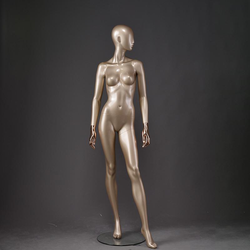 LOF-1 full body fiberglass golden female manikin