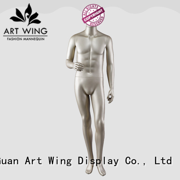 Art Wing window gold mannequin directly sale for shop