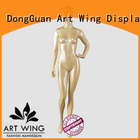 Art Wing female mannequin fiberglass wholesale for cloth shop