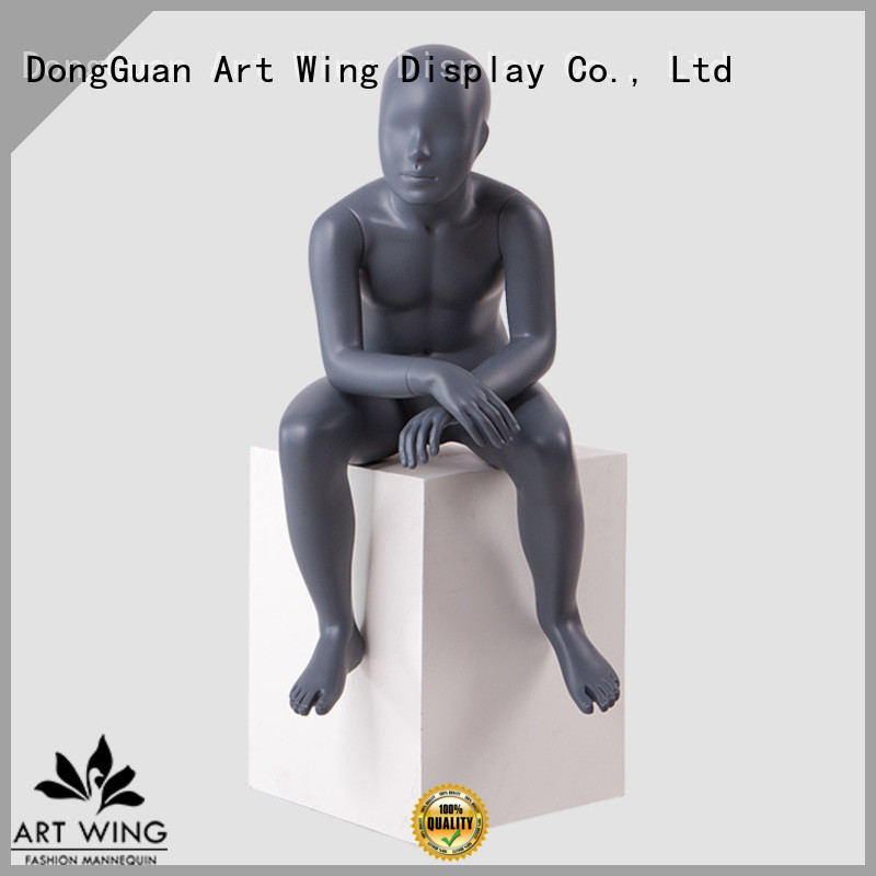 Art Wing sitting child mannequin torso factory price for cloth shop