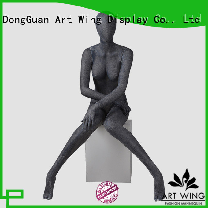 Art Wing ladies black female mannequin factory for modelling