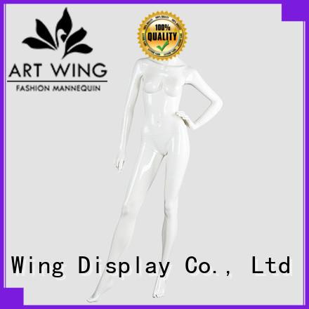 Art Wing women white female mannequin wholesale for cloth shop