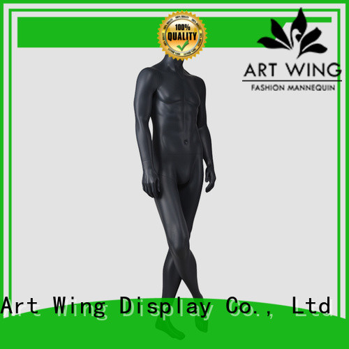 YB-2 Vintage male mannequin full body standing blac muscle men mannequin