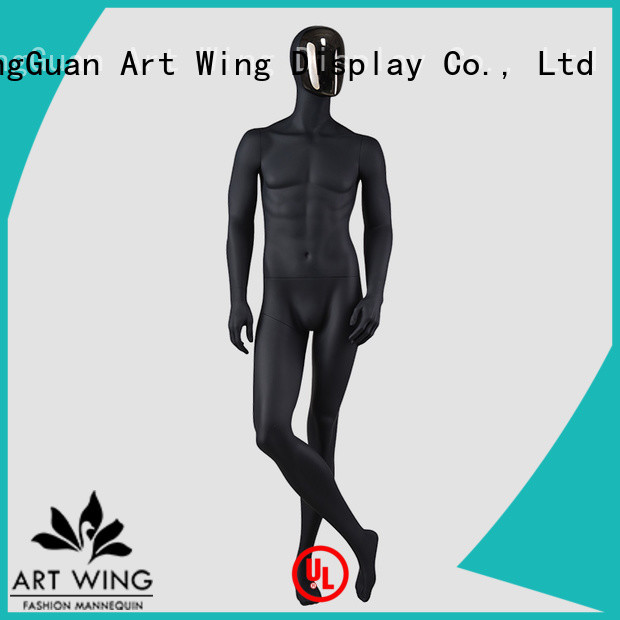 YB-2 High-end fashion window display mannequins full body matte black mannequin male