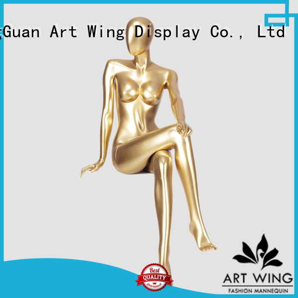 Art Wing fashion plastic female mannequin personalized for cloth shop