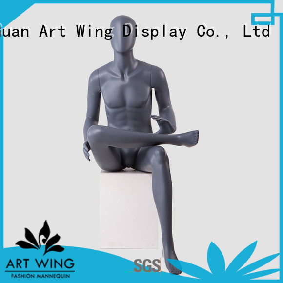 Art Wing abstract adjustable male mannequin from China for shop