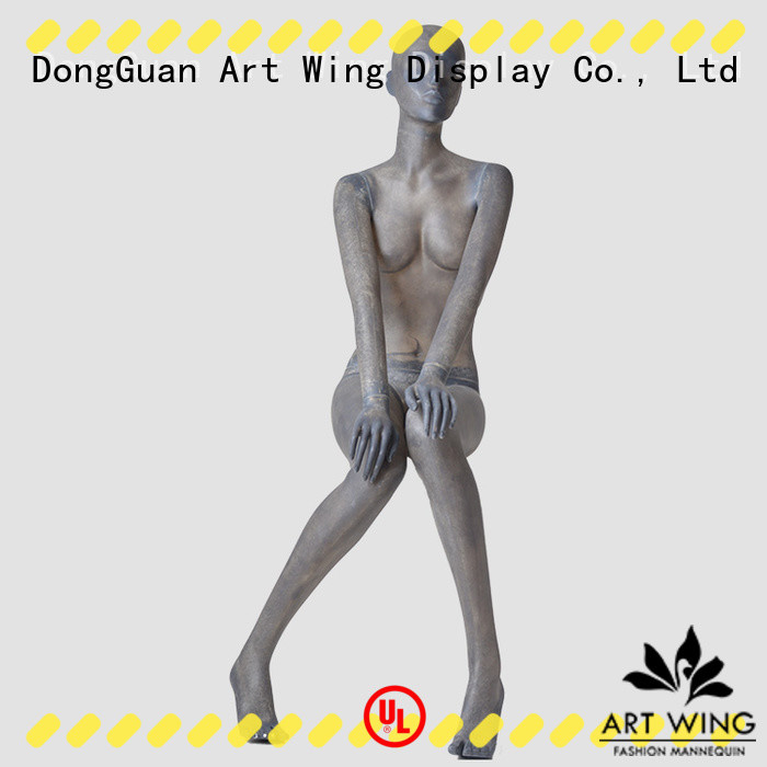 Art Wing standing female realistic mannequins manufacturer for shop