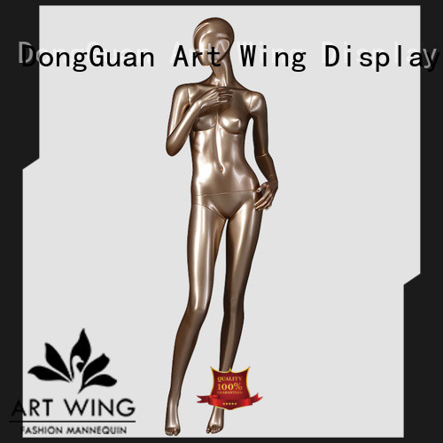 elegant antique female mannequin golden design for modelling