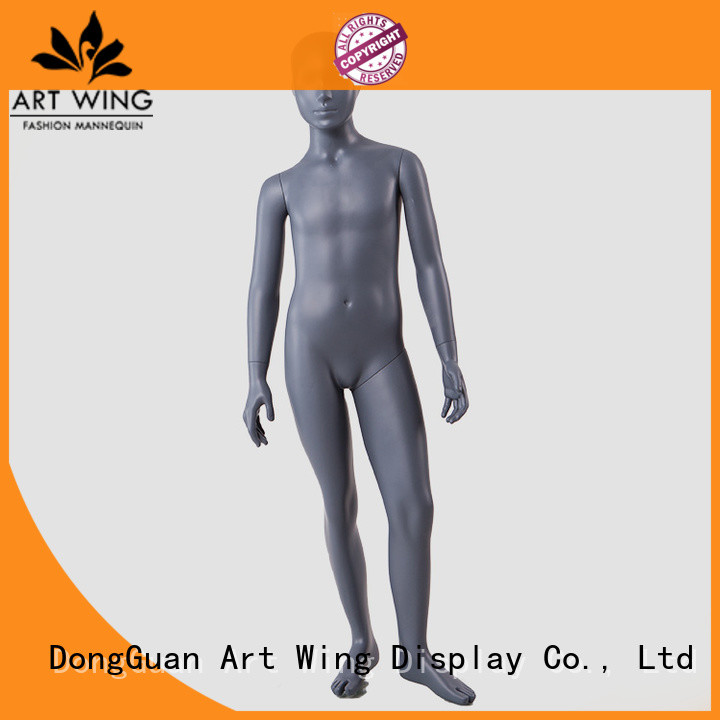 BC-KIDS-B Standing young teenage boy children mannequin black color for display