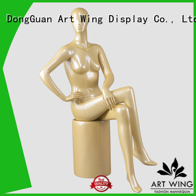 sturdy realistic girl mannequin wholesale for cloth shop Art Wing