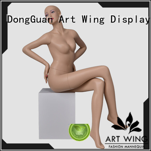 Art Wing down make up mannequin customized for mall
