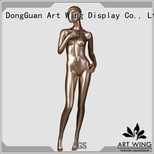 Art Wing gold vintage female mannequin factory for store