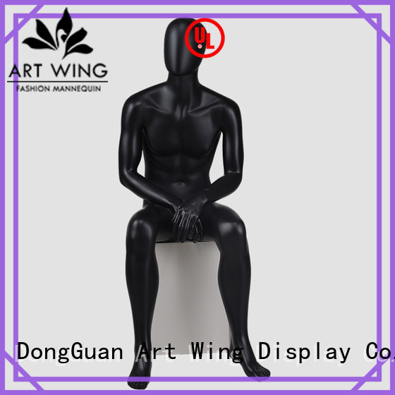 YB-4 Fashion black sitting male mannequins window mannequin