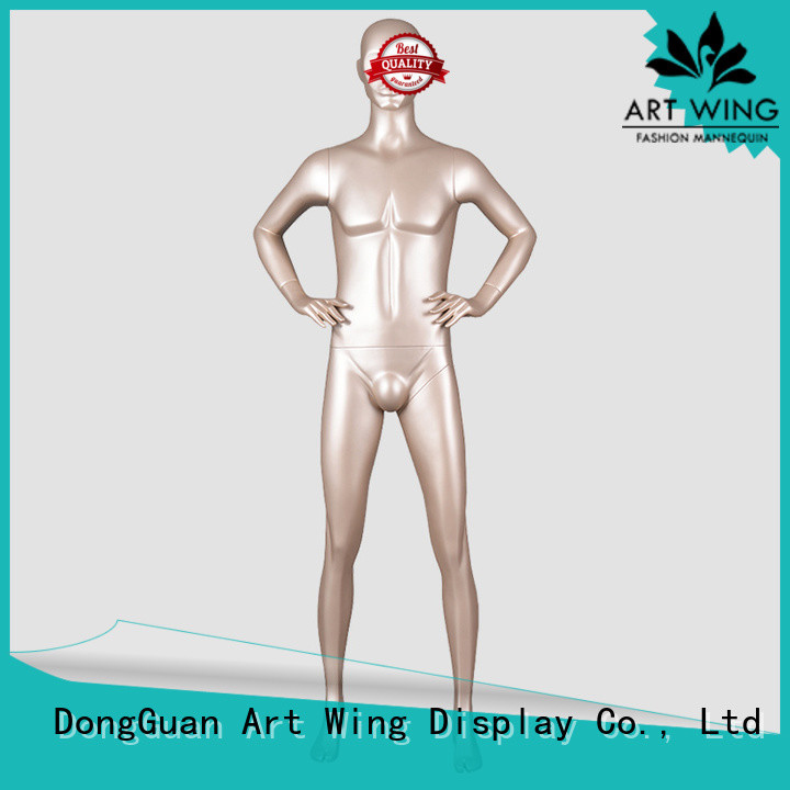 color male mannequin form display for shop Art Wing
