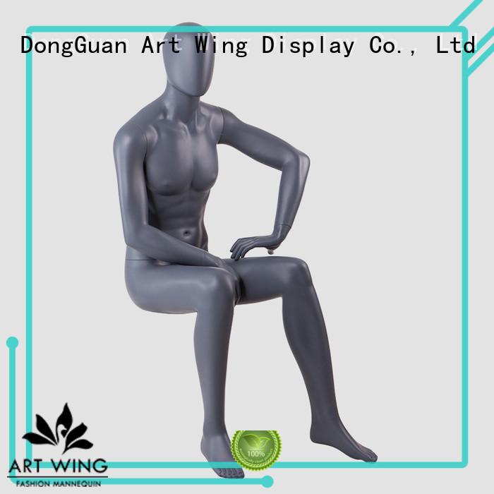 KENT-L Fiberglass sitting male mannequin adjustable for display