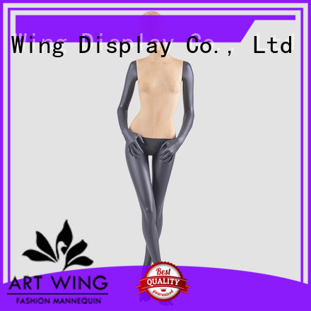 F-2202 Full body slim lady female black mannequins for clothes display