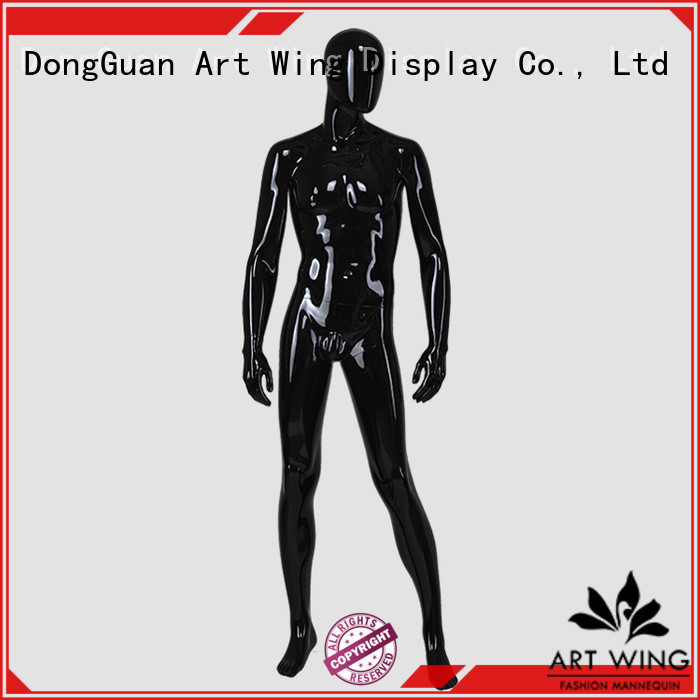 Art Wing certificated black mannequin factory price for supermarket