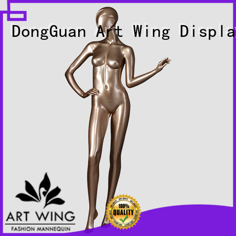 Art Wing top quality gold female mannequin full for modelling