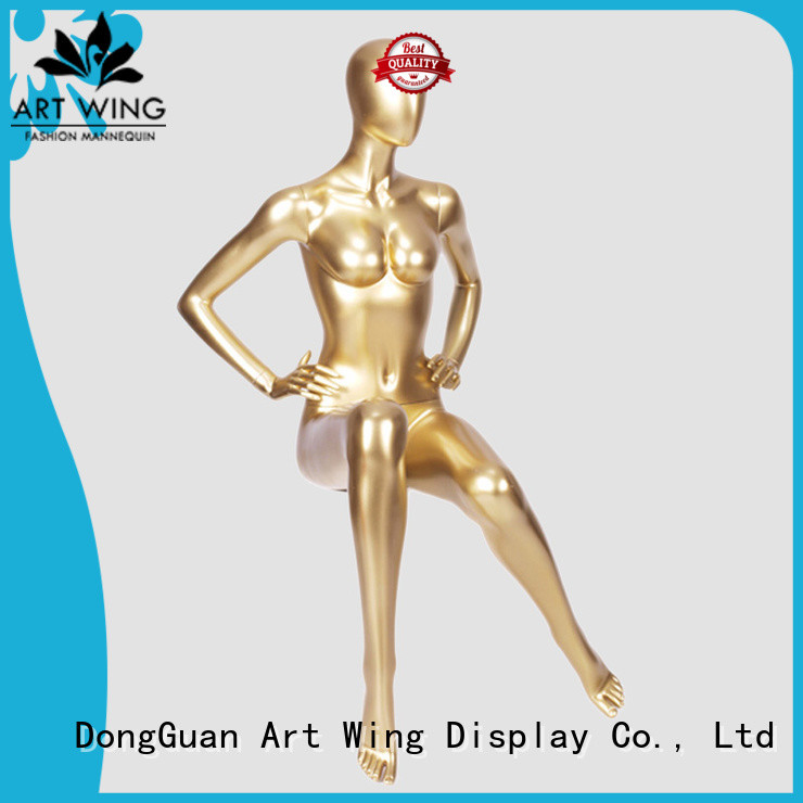 Art Wing glossy female display mannequin wholesale for supermarket