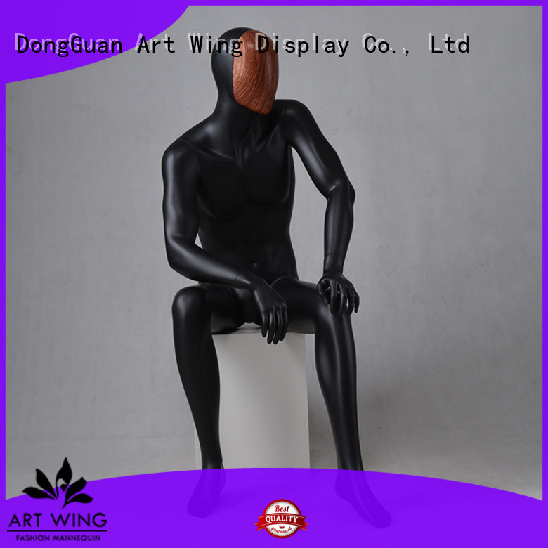 Art Wing professional male mannequin torso with head supplier for cloth shop