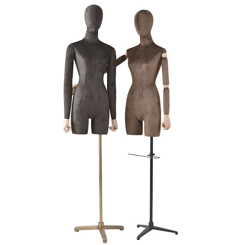 UP-D Custom made mannequins half-body wrapping velet torso dummy for window display