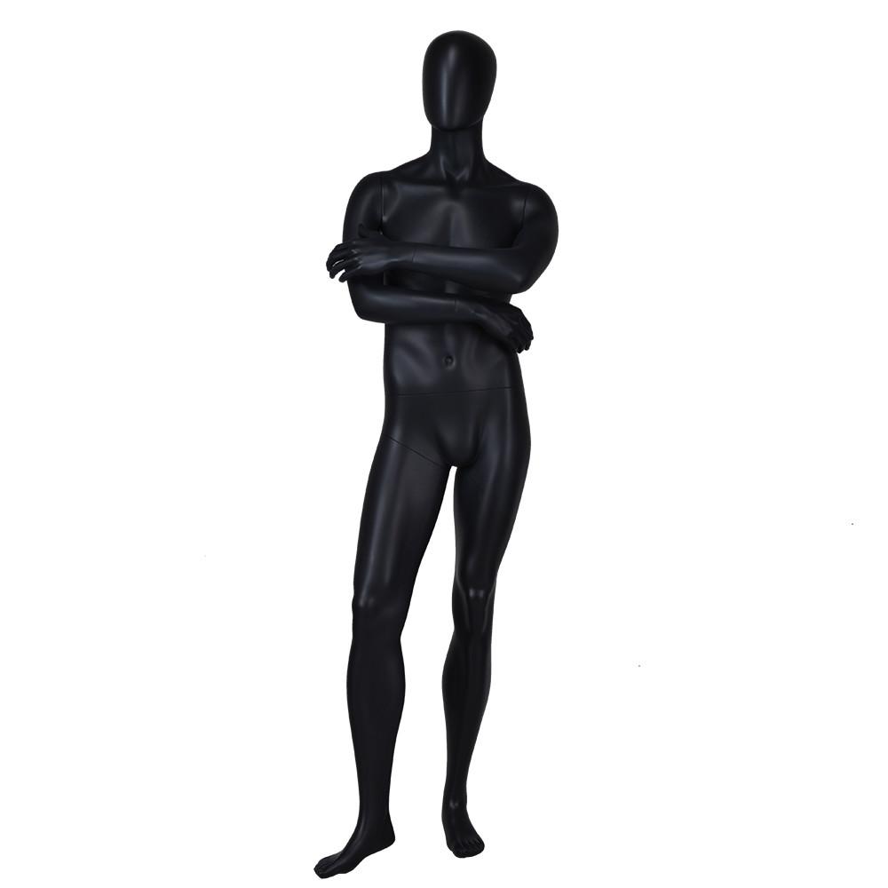YB-6 Standing matte black full body male model mannequin for sale