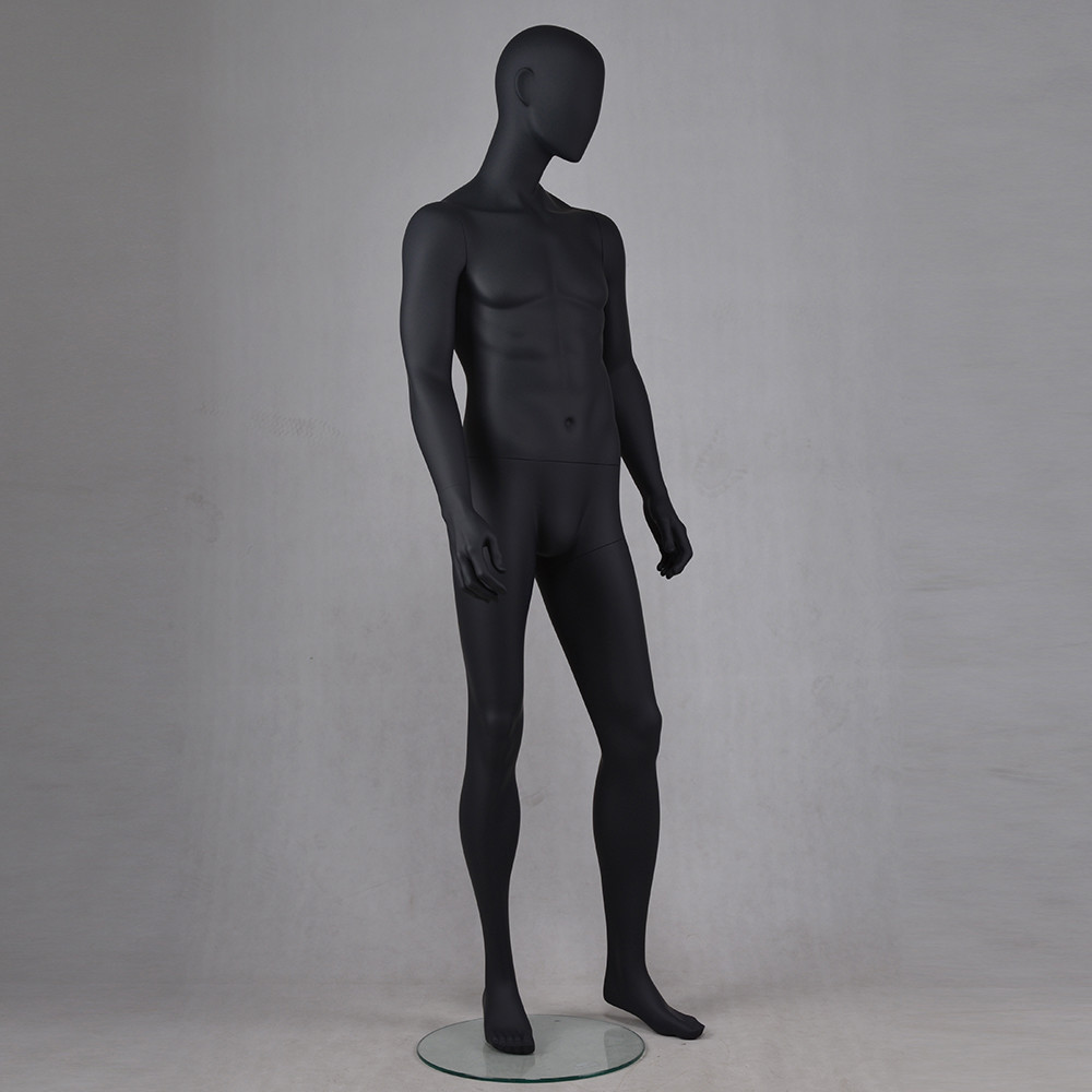 YB-5 High fashion hot sale black color male standing mannequin