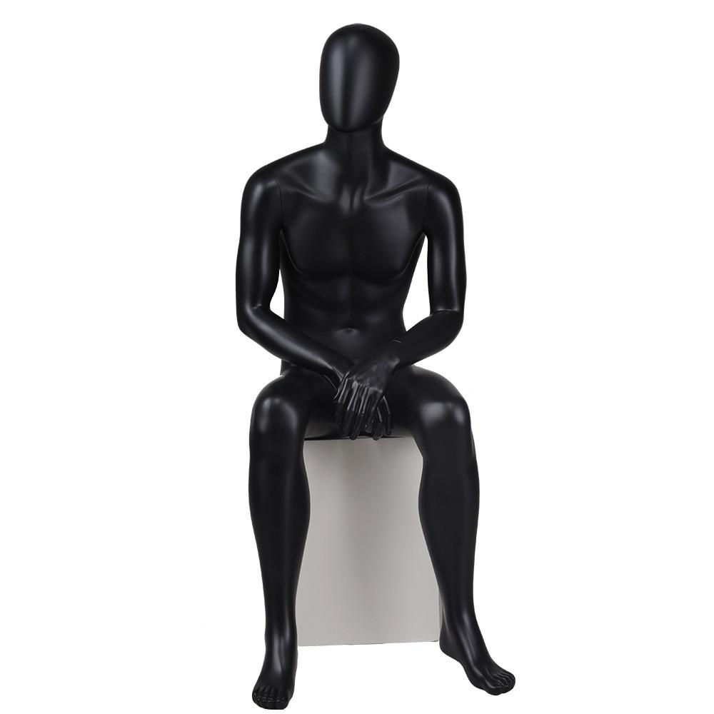YB-4 Fashion black sitting male mannequins window mannequin