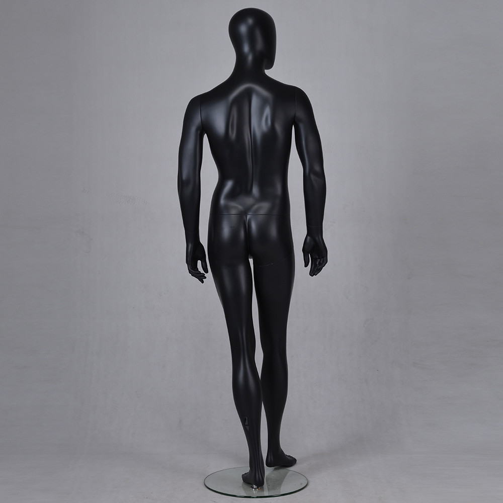 YB-3 Standing tall male mannequin full body black mannequin dummy