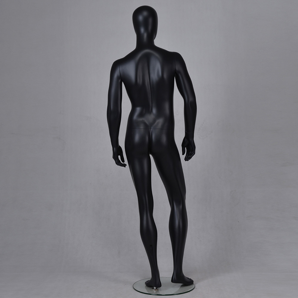 YB-1 Black abstract mannequin full body male mannequin customization