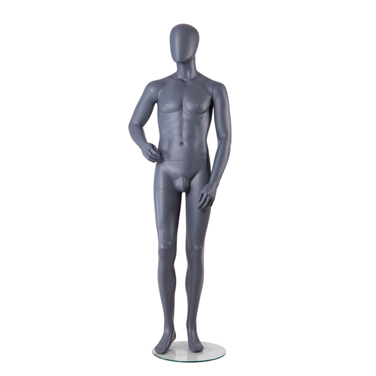 KENT-E Hot sale fiberglass black adult male mannequin for retail display