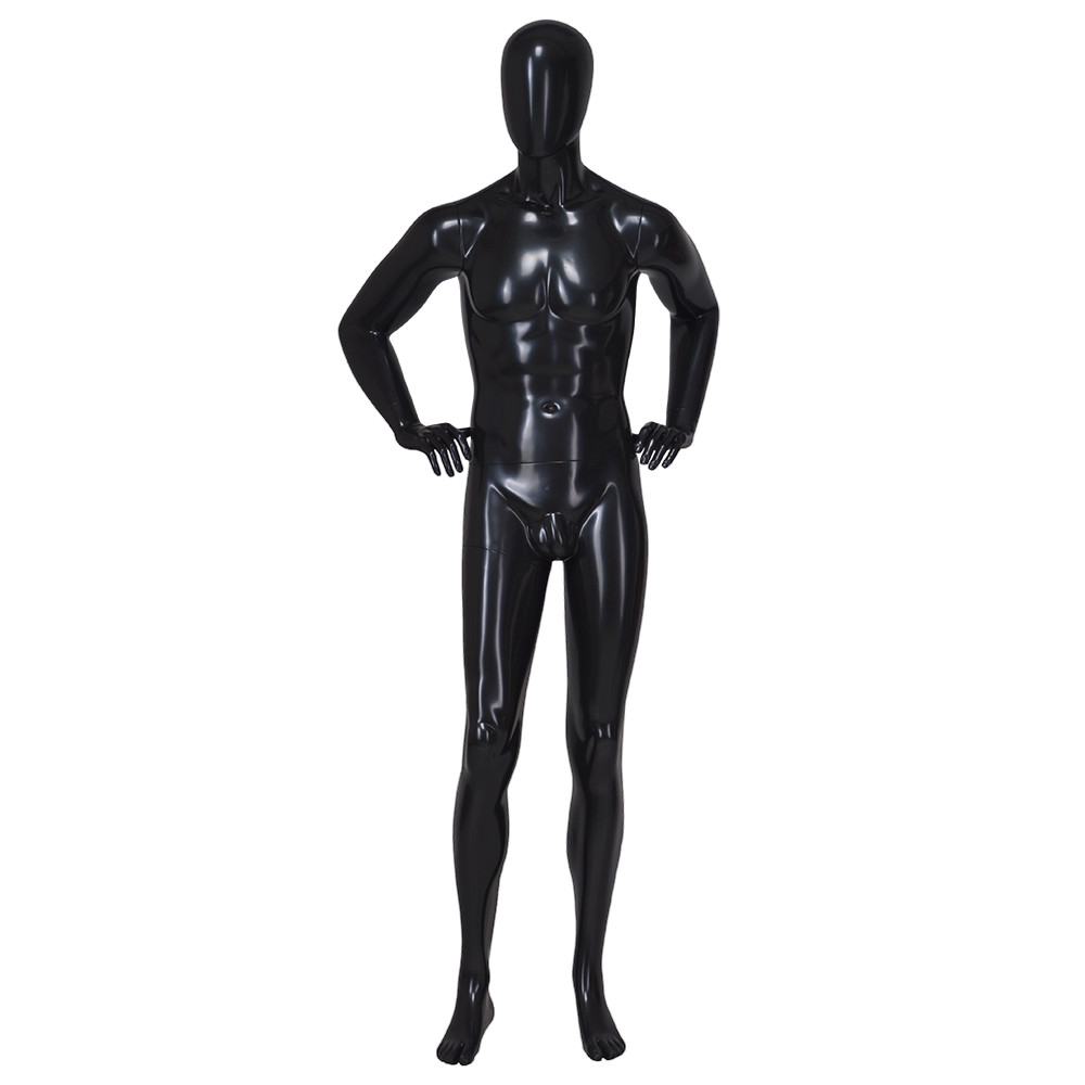 IAN-6 Gloassy black muscle male mannequin for display
