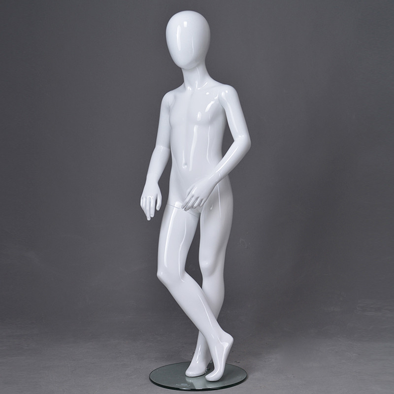 PRIM-224 Custom full body kids dummy glossy white abstract child mannequin