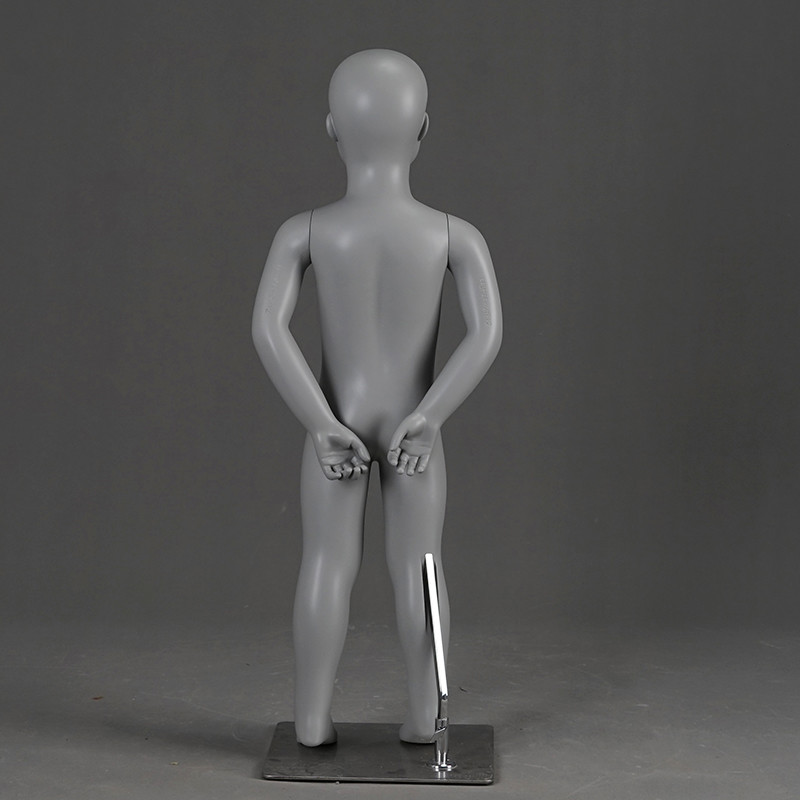 PRM-2 Wholsale fiberglass mannequin abstract grey color child mannequins