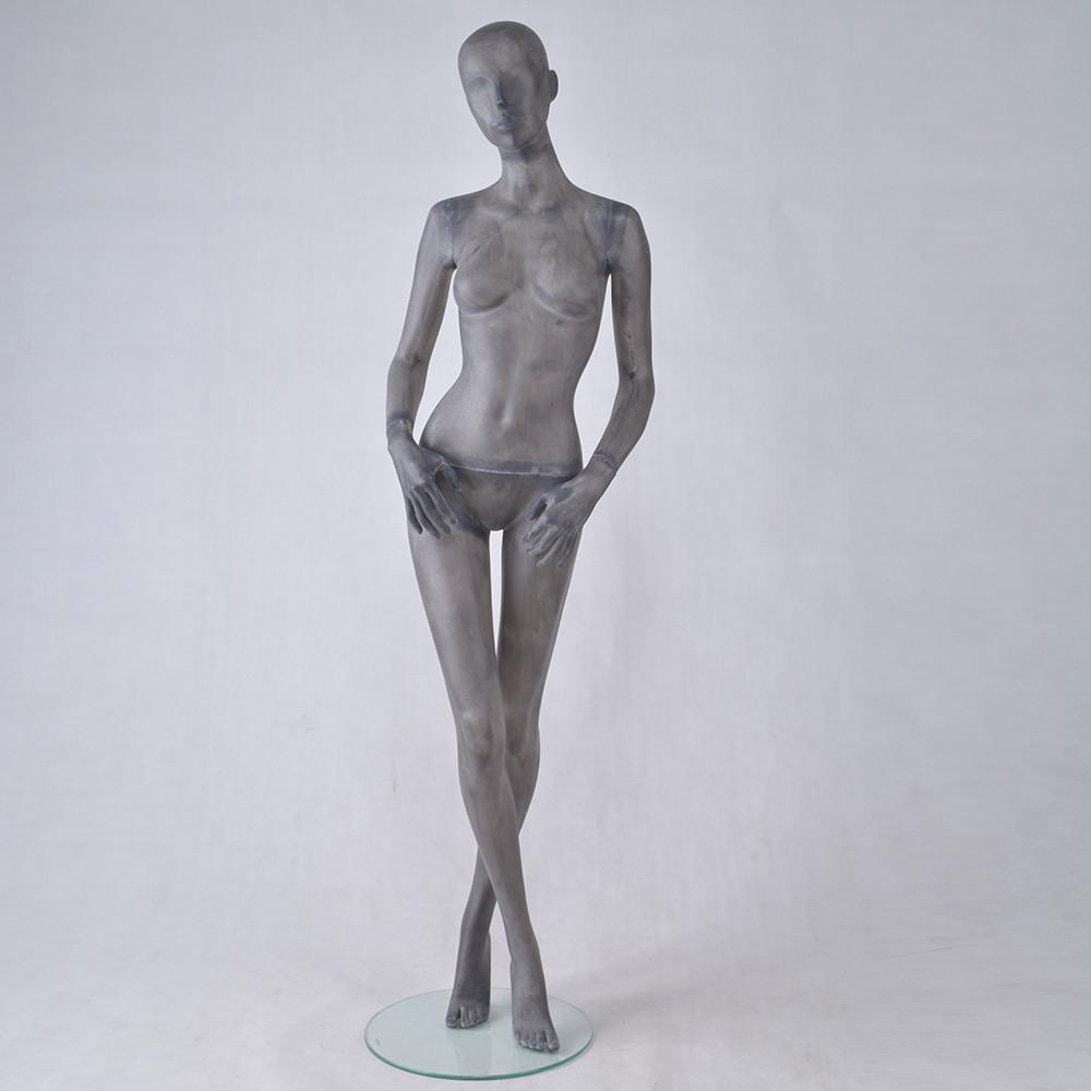 TG-7 Vintage transparent female standing mannequin for display