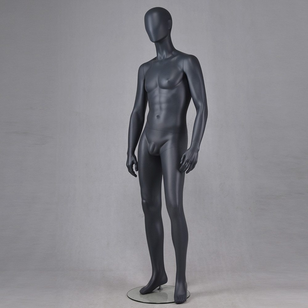 M-2201-AH Matte black male mannequin full body muscle mannequin men for business suit display