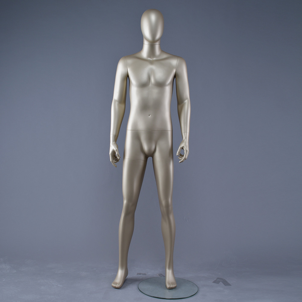 AEM-4 Full body gold male abstract mannequin for window display