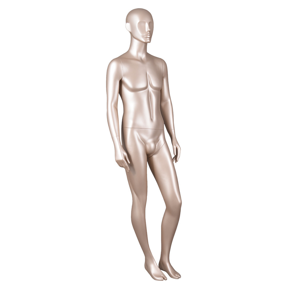 7078 Life size mannequins male full body gloden color for display