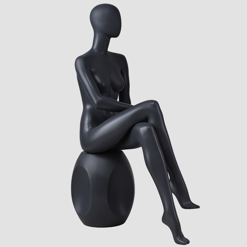 BDS Sitting female black fashionable women sex mannequin clthoes display manikin
