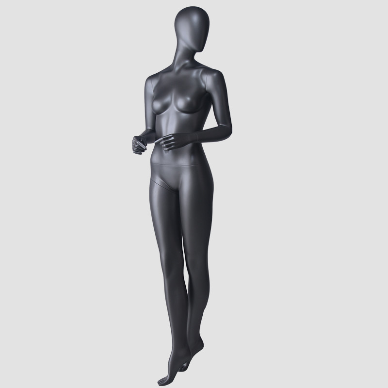 BDS Matte black African style female mannequin full female body suit	manikin