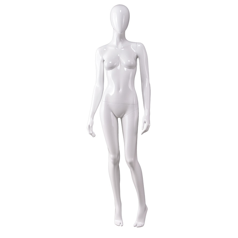 AS-7 New arrival full body glossy white maniquies women plastic female clothes used mannequin for sale