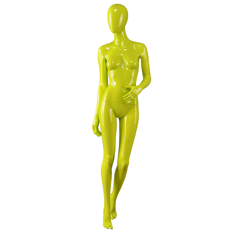 AS-8 Fashion clothes dummy female yellow color full body plastic mannequin italy