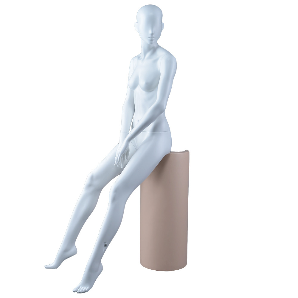 FION-7 Fashion sexy sitting woman mannequin fiberglass female boutique dummy